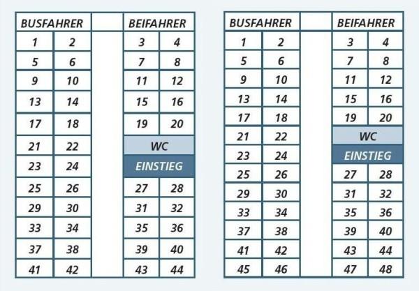 Bus-Sitzplan